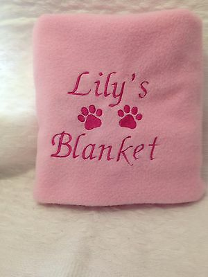 Personalised Embroidered Dog/puppy soft fleece Blanket