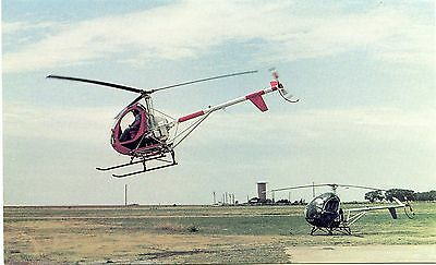 Hughes 300C Helicopters - Advertising Postcard