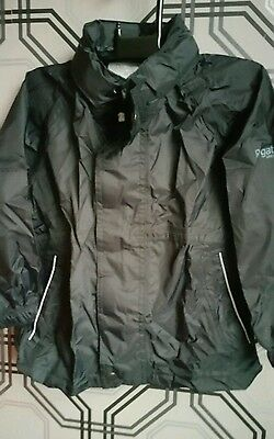 Regatta Kids Packaway Waterproof Pac-a-Mac Jacket Boys Girls Black age 3-4 yrs