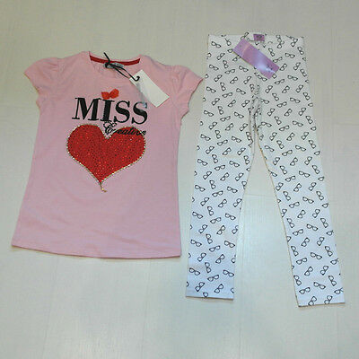 Bnwt Girls T-Shirt & Leggings Outfit Age 6-7 Years