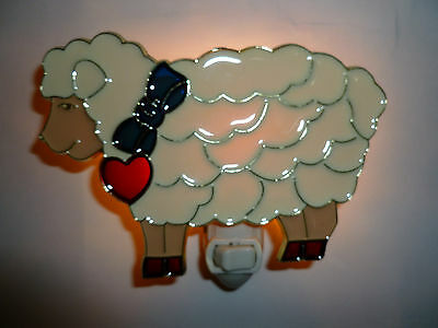 "Stained Glass Style "" Sheep ""  Night Light"