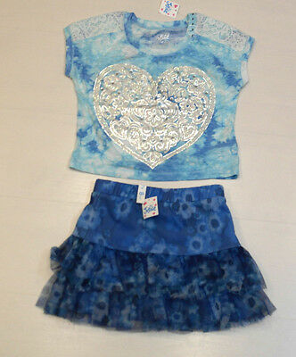 Bnwt Girls Skirt & Top Outfit Age 8 Years