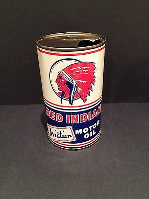 Red Indian Quart Oil Can McColl Frontenac Vintage collectible advertising