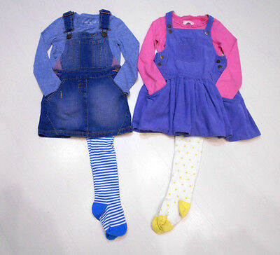 Girls Pinafores & Tops Bundle Age 3-4 & 4 Years 104 Cm