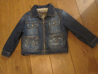 Zara Girls Denim Jacket Age 4-5 Y