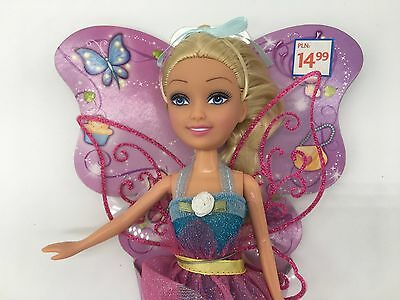 Funville Sparkle Girlz Fantasy Doll Girly Golden Hair Barbie Purple