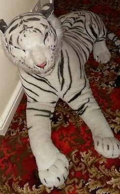 Large White Tiger Soft Toy