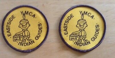 Lot Of 2 Vintage Eastside YMCA Indian Guides Candy Sale Patches