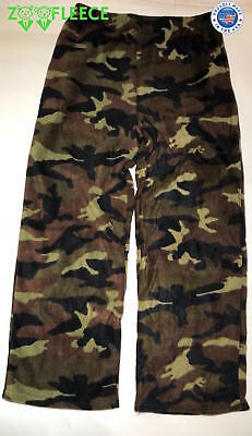 Polar Fleece Hunting Pant Camo Snow White Winter Warm Thermal Waterresistant New
