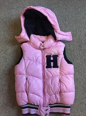 Girls designer Hooded Gilet - Tommy Hilfiger- age 2-3-4years - pink