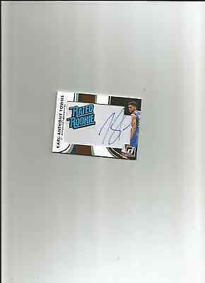 2015-16 donruss rated rookie karl anthony towns patch auto rc sp