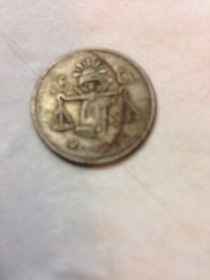 1950 Mexican 25 Cent Coin $1.99