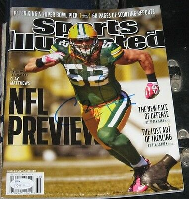 Clay Matthews Green Bay Packers Signed Autographed Sports Illustrated Si Jsa