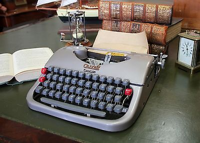 Vintage Oliver Courier Typewriter with Case and Manual - Working Circa 1950s