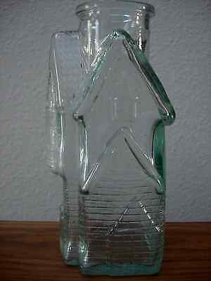 "Collectible Figural Bottle - EMPTY - Cottage-House, 7 1/2"" Tall"
