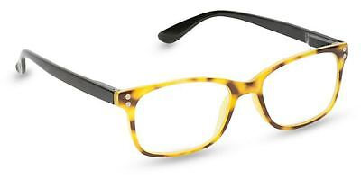 NEW Peepers Reading Glasses Strength +2.25 Snap To It Golden Tortoise Free Ship!