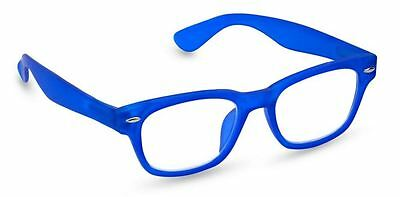 NEW Peepers Reading Glasses Strength +2.25 Style Six Neon Blue - Free Shipping!