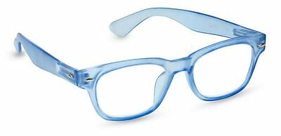 NEW Peepers Reading Glasses Strength +2.25 Bright Rainbow Blue - Free Shipping!