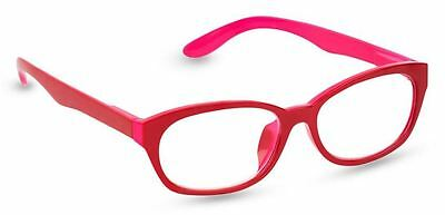 NEW Peepers Reading Glasses Strength +2.25 Good Morning Charlie Red - Free Ship!