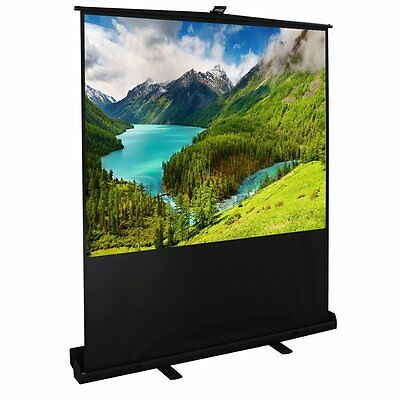 100 Inch 4:3 Diagonal Pull up Floor Projector Portable Screen Aluminium Case