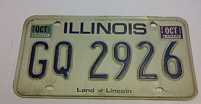 Illinois IL expired 1984 1985 license plate Land of Lincoln GQ 2929