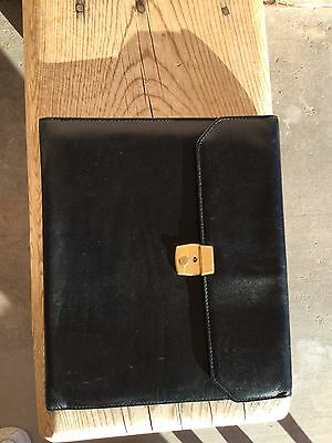 Authentic Bosca 8 1/2 X 11 Writing Pad NOTEPAD COVER Old Leather BLACK
