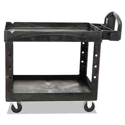 Rubbermaid Commercial Structural Resin Service Cart with Lipped Shelves, 2 Shelv