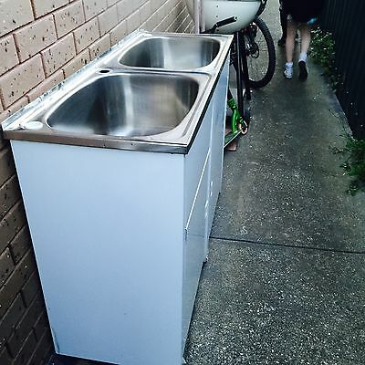 Stainless Steel Double Sink Laundry Trough