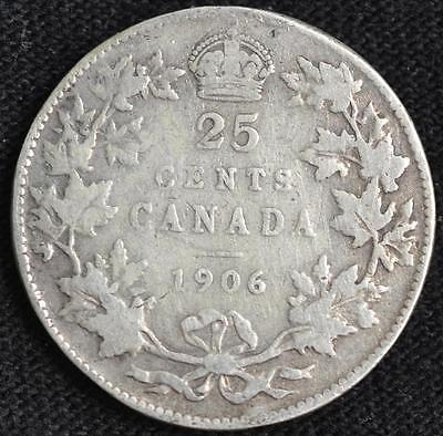 G786 - 1906 - Canada - 25 Cent Silver Coin - Ungraded - Nr