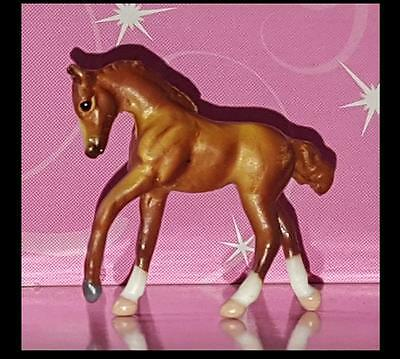 Breyer Chestnut Mini Whinnie ROMPING FOAL from Pony Gals set 720211