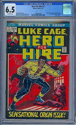 LUKE CAGE HERO FOR HIRE #1 - CGC 6.5 OW Pages FN+ First LUKE CAGE & DIAMONDBACK