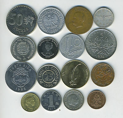 Lot of 16 World Coins - 16 Different Countries - Great Starter - Lot #115