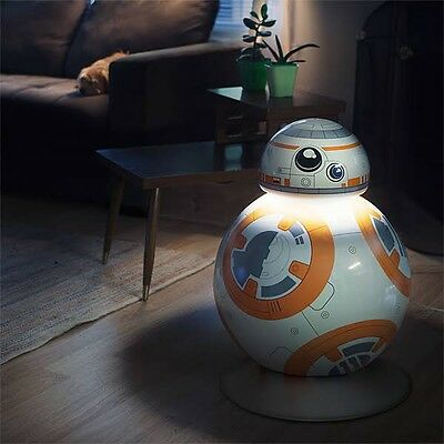 Star Wars Force Awakens Life Size BB-8 Droid Aluminum LED Floor Lamp - 3 Modes!