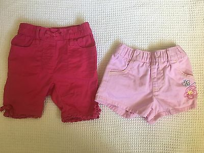 Baby girl pink shorts by Pumpkin Patch 0-3 mths & Dymples 0000