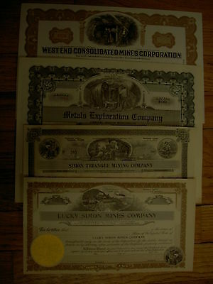 4 Different  Mining Certificates from Nevada