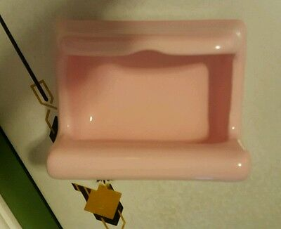 Vintage pink porcelain soap holder