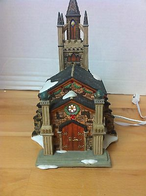 Dept 56 DICKENS  Village Series - SOMERSET VALLEY CHURCH with Chimes