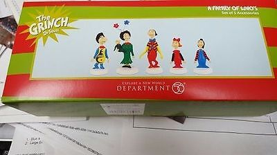 * A FAMILY OF WHO'S  * Accessory Dept 56 Dr. Seuss  Grinch NEW  In Box