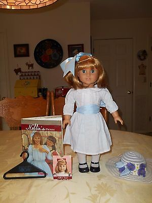 American Girl Nellie Doll and Hardcover Book with DJ, Excellent Condition!!