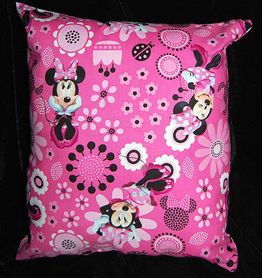 New Handmade Disney Minnie Mouse Pink Travel Toddler  Pillow~New Pattern~ Sale