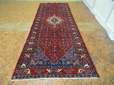 "Cr.1930 Senah Antique Persian Exquisite Hand Made Rug 3' 10"" x 10' 2"""