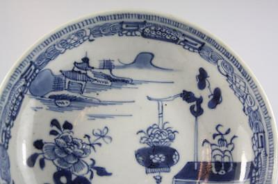 Antique Chinese Qing Dynasty Blue And White Hand Painted Plate