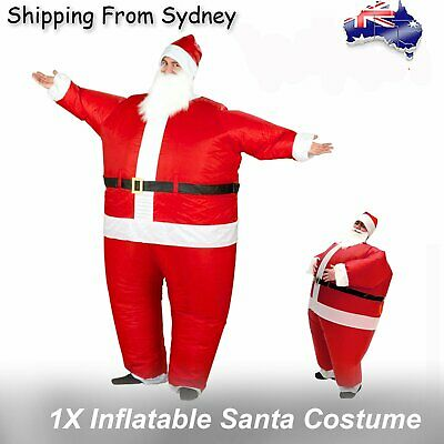 New Inflatable Santa Costume Battery Operated Christmas Xmas Fancy Dress Suit