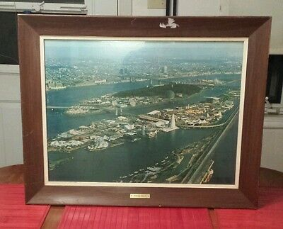 Vintage Montreal World Fair Expo 67 Terre des Hommes picture frame