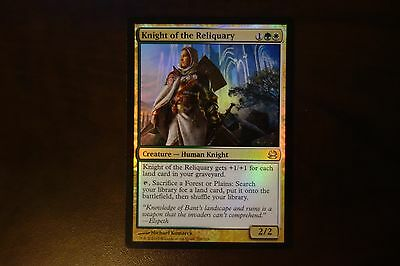 1x FOIL Knight of the Reliquary - Modern Masters 2013 - NM/MT - Magic MtG
