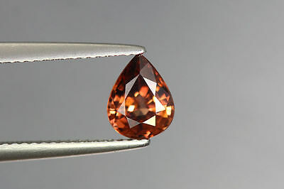 1.590 Cts FULL FIRE 100% NATURAL EARTH MINE RED ZIRCON UNHEATED GEMSTONE~!!!