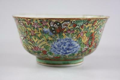ANTIQUE CHINESE 19th Century QING DYNASTY  FAMILLE ROSE BOWL