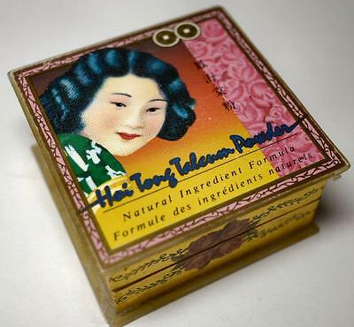 Vintage Hoi Tong Traditional Chinese Face Powder.Sam Fong Full w Sponge/Puff