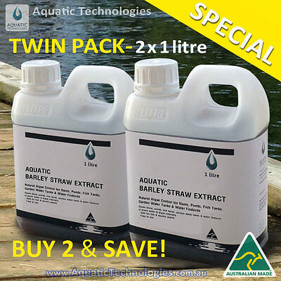 Aquatic Barley Straw Extract 2 litres - For Algae in ponds & water features