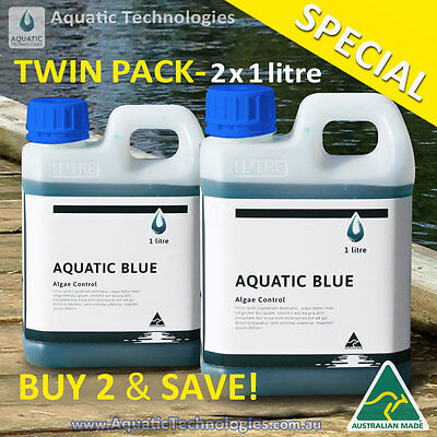 Aquatic Blue Pond Dye 2 litres - Aquatic Weed & Algae Growth Suppressant